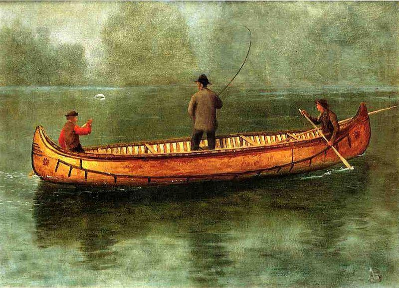 Albert Bierstadt Fishing_from_a_Canoe